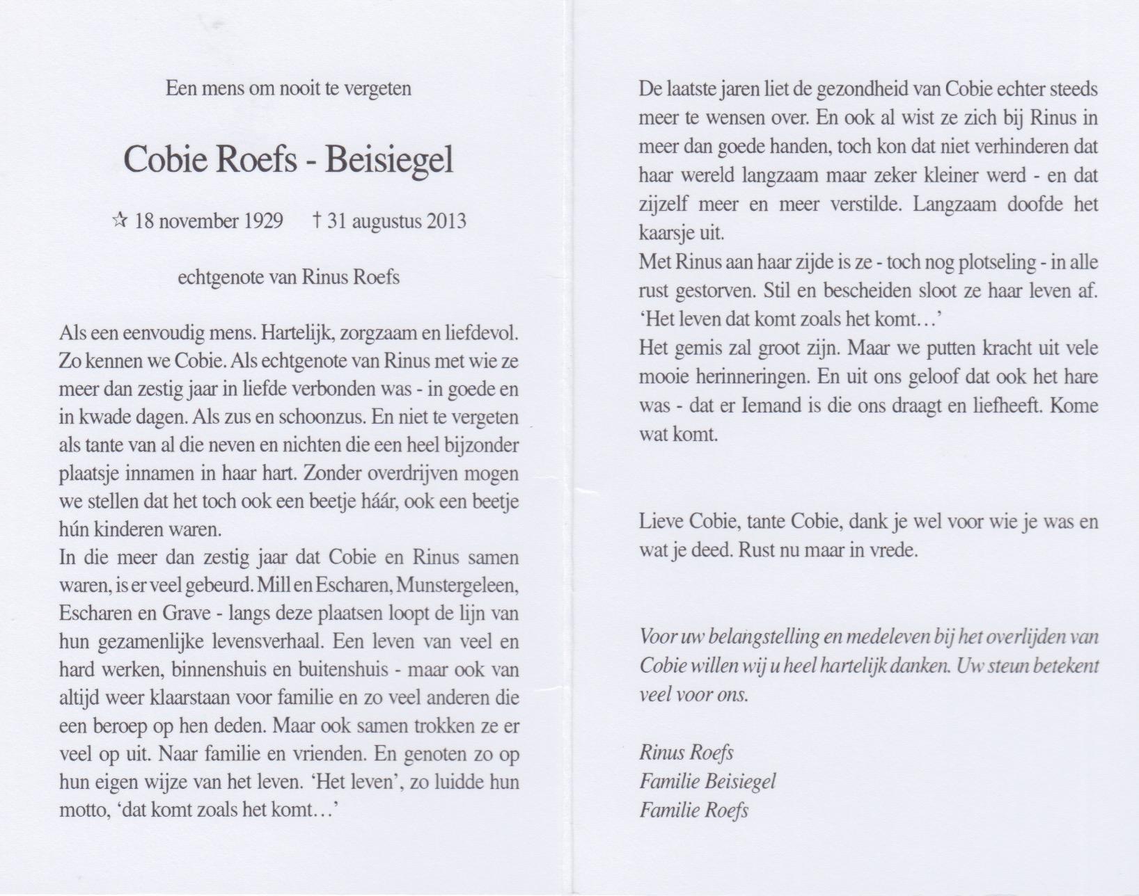 Bidprentje Coby Beisiegel