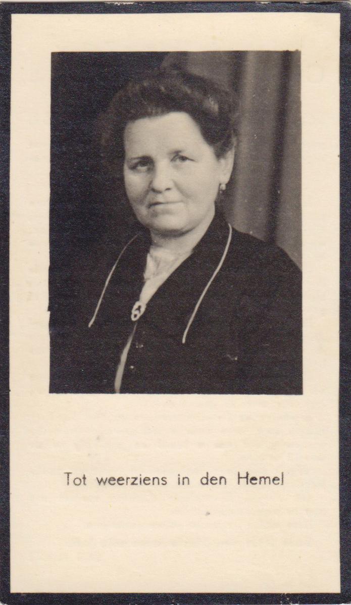Bidprentje Cornelia Paters