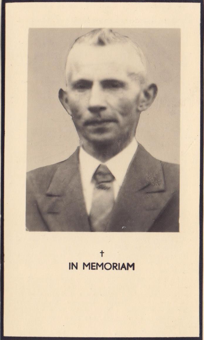 Bidprentje Franciscus Hermanus Peeters