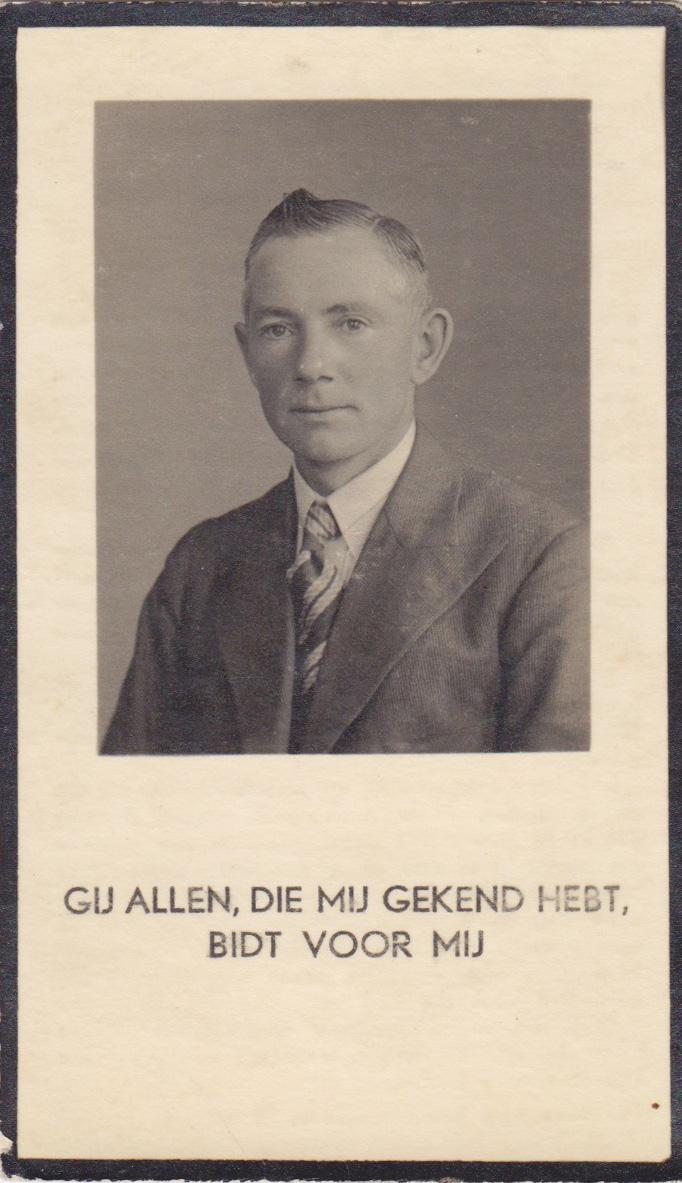 Bidprentje Mathijs Lambertus Peeters